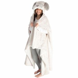 Bunny Hooded Plush Wrap Blanket
